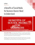 4 Benefits of Social Media for Business Owners Need to Understand