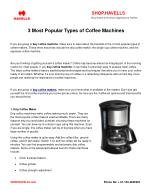 3 Most Popular Types of Coffee Machines
