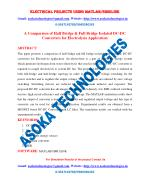 A Comparison of Half Bridge & Full Bridge Isolated DC-DC Converters for Electrolysis Application