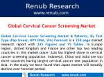Global Cervical Cancer Screening Market