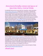 Investment-friendly commercial spaces at Spectrum Metro, Central Noida