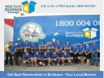 Get Best Removalists in Brisbane - Your Local Movers