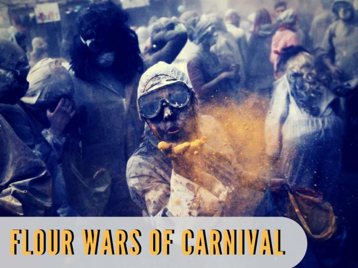 Flour wars of carnival