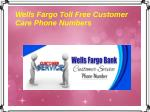 Wells Fargo Toll Free Customer Care Phone Numbers