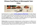 Chinese Food Places in Minneapolis Twin cities