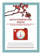 Best photography application to auto stamp photos with Date and Time using Inbuilt Mobile Camera