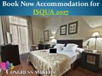 Book Now Luxury Hotel for ISQUA Conference 2017