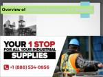 Overview of Industrial Equipments and Supplies