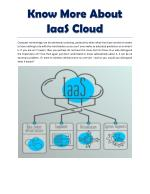 What IaaS cloud is all about?