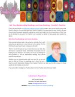 Get Your Relationship Readings and Love Reading Cecelia's Psychics