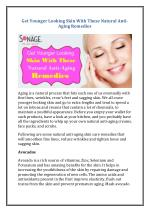 Get younger looking skin with these natural anti aging remedies