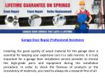 Garage Door Repair Professional Assistance