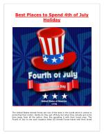 Best Places to Spend 4th of July Holiday - BookOtrip.com