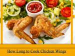 How Long to Cook Chicken Wings