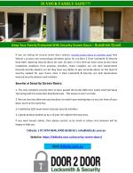 Keep Your Family Protected With Security Screen Doors - Sunshine Coast