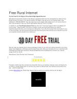 Free Rural Internet in texas for 30 days