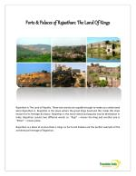 Forts and Palaces in Rajasthan, India