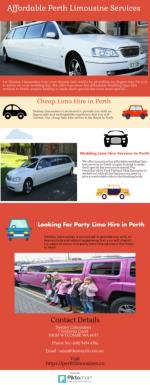 Find Affordable Perth Limousine Services
