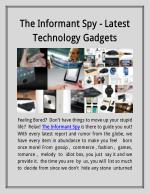 The Informant Spy - Latest Technology Gadgets