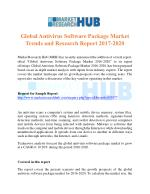 Global Antivirus Software Package Market Trends and Research Report 2017-2020