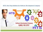 HTS: One Stop Solution Of Software Development Company