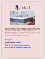 Best Gel Memory Foam Mattresses by Qomfort
