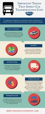 Factors That Affects Car Shipping Costs