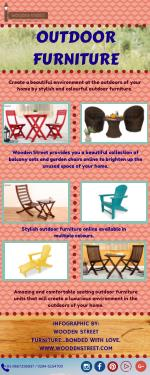 Buy Best Quality Outdoor Furniture Online - Wooden Street