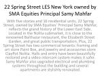 22 Spring Street LES New York owned by SMA Equities Principal Samy Mahfar