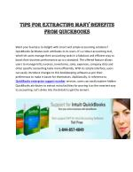 Tips For Extracting Many Benefits From QuickBooks