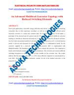An Advanced Multilevel Converter Topology with Reduced Switching Elements