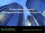 The Best-Rated Property Management Firms In Yorba Linda CA
