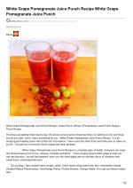 Pomegranate Juice And White Grape Punch