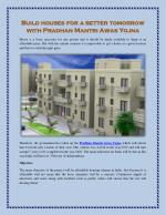 Build houses for a better tomorrow with Pradhan Mantri Awas Yojna