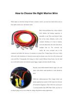 How to Choose the Right Marine Wire