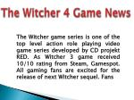 The Witcher 4 game