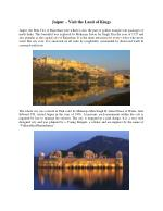 Jaipur – Visit the Land of Kings