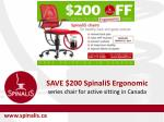 Save $200 on SpinaliS Ergonomic Series Chairs for Active Sitting in Canada