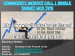 Commodity Jackpot Call | Single Target MCX Tips