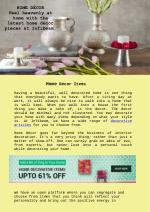 Home décor: Feel heavenly at home with the latest home décor pieces at Infibeam.