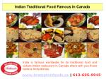 Indian Traditional Food Famous In Canada