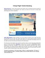 Cheap Flight Airconnect Booking