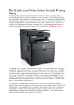 The Small Laser Printer Solves Portable Printing Needs