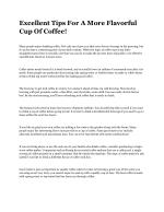 Excellent Tips For A More Flavorful Cup Of Coffee!