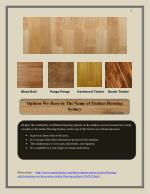 Options We Have in The Name of Timber Flooring Sydney