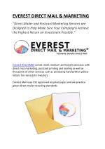 Everest-Direct Mail & Marketing Services
