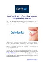 Adult Dental Braces - 5 Facts to Know just before visiting Dandenong Orthodontist