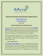 Importance Of Outsourcing 3D Interior Design Services