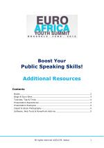 EAYS Public Speaking Resources (2012)