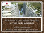 Buy Mantri Lithos Homes in Bangalore | Call 9953592848